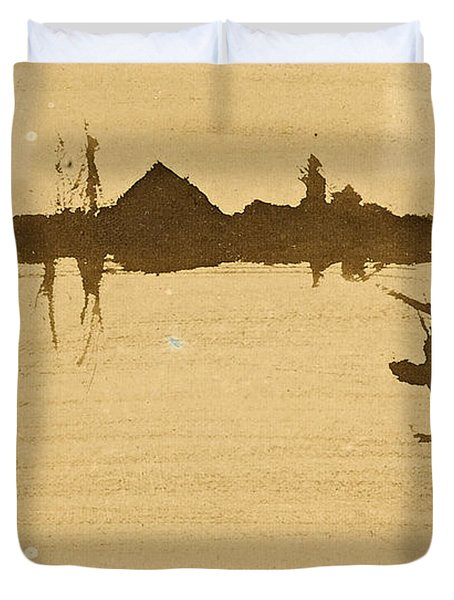 Battersea Reach Looking  Across The Thames Duvet Cover