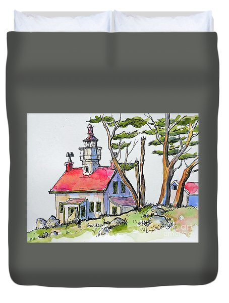 Battery Point Lighthouse Duvet Cover by Terry Banderas
