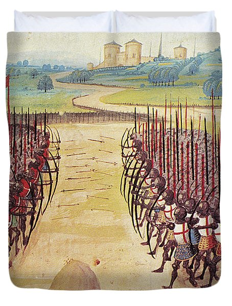 Battle Of Agincourt, 1415 Duvet Cover
