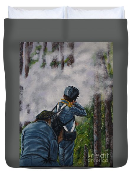 Battle Of Fort Dade Duvet Cover
