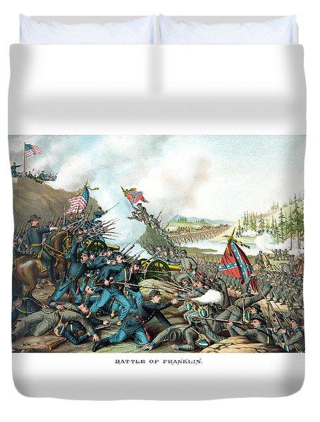 Battle Of Franklin - Civil War Duvet Cover