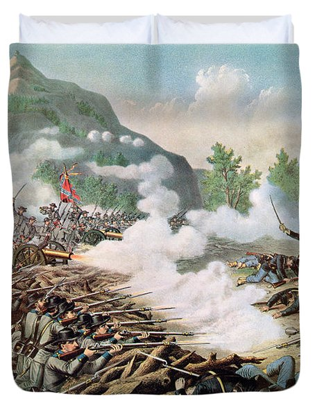 Battle Of Kenesaw Mountain Georgia 27th June 1864 Duvet Cover by American School