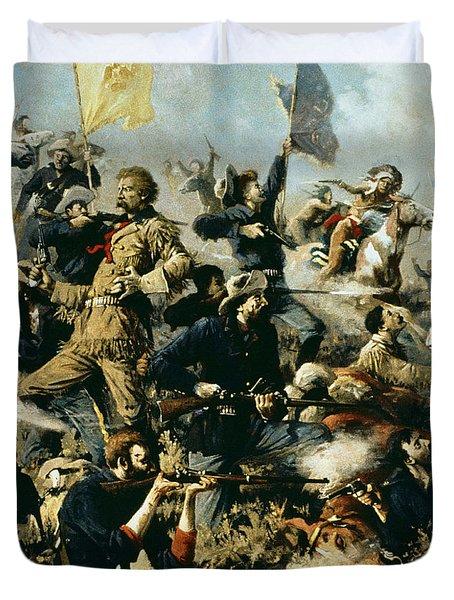 Battle Of Little Bighorn Duvet Cover by Edgar Samuel Paxson