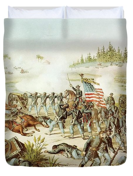 Battle Of Olustee Duvet Cover by American School