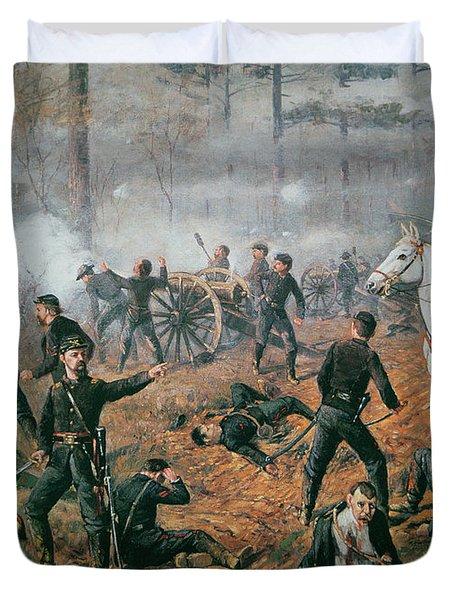 Battle Of Shiloh Duvet Cover by T C Lindsay