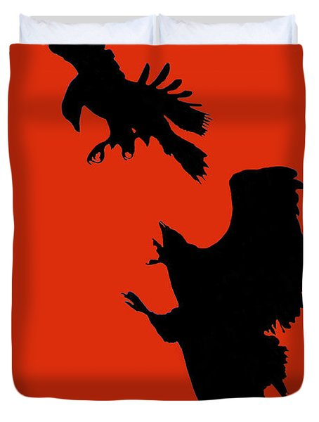 Battle Of The Eagles Duvet Cover