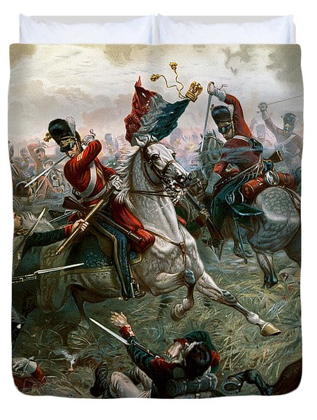 Battle Of Waterloo Duvet Cover by William Holmes Sullivan