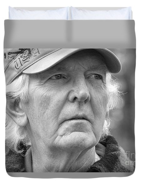 Duvet Cover featuring the photograph Battle Wounds by Mim White