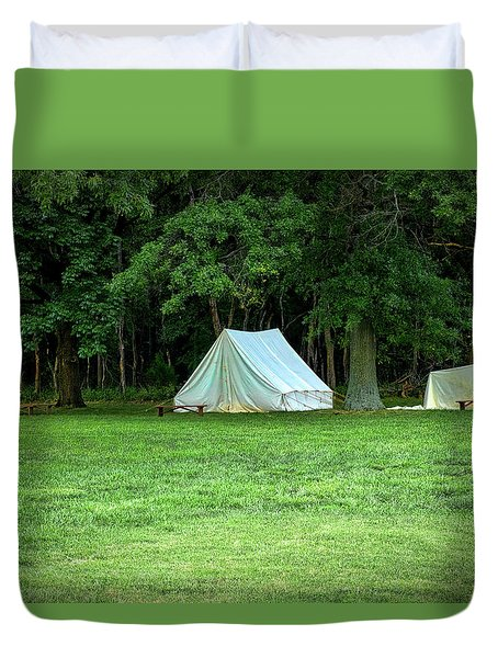 Battlefield Camp Duvet Cover