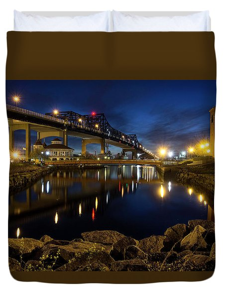 Battleship Cove, Fall River, Ma Duvet Cover