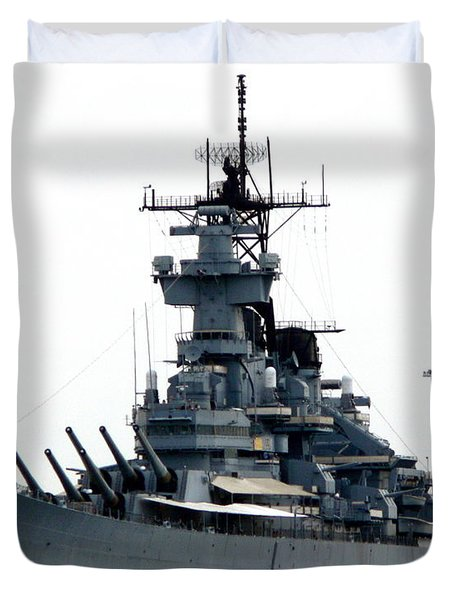 Battleship New Jersey Duvet Cover