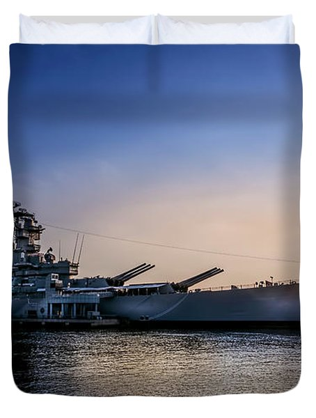 Battleship New Jersey Duvet Cover