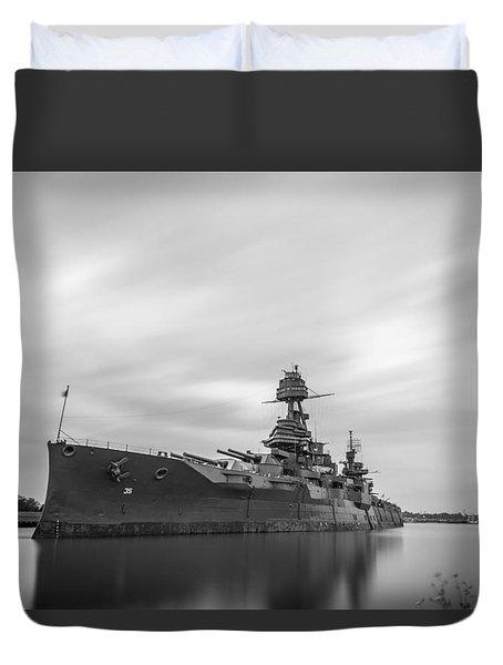 Battleship Texas Duvet Cover