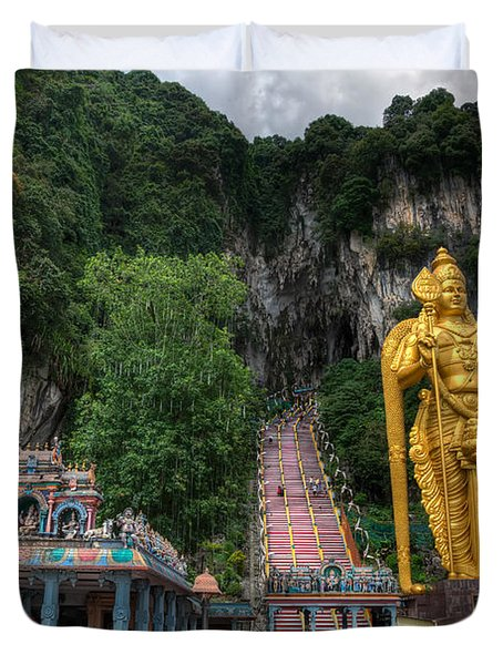Batu Caves Duvet Cover by Adrian Evans