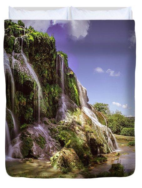 Baume Les Messieurs, France. Duvet Cover