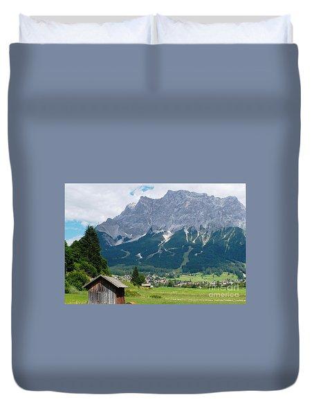 Bavarian Alps Landscape Duvet Cover by Carol Groenen