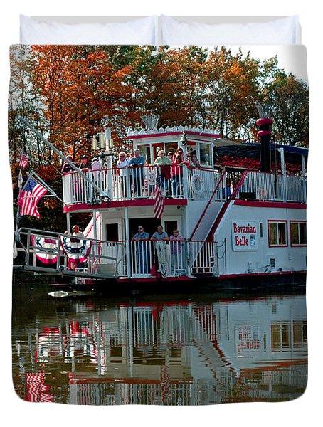 Duvet Cover featuring the photograph Bavarian Belle Riverboat by LeeAnn McLaneGoetz McLaneGoetzStudioLLCcom