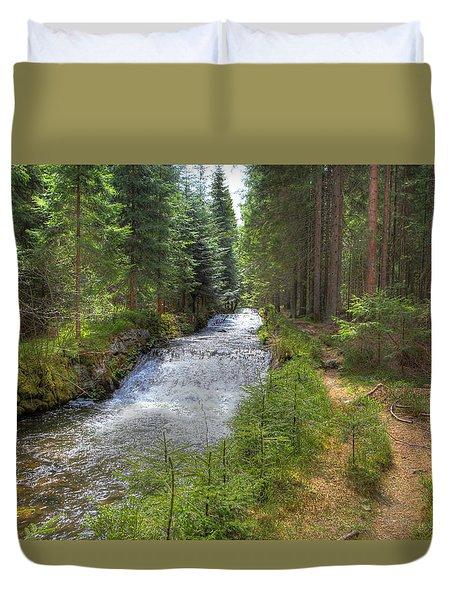 Bavarian Forest Stream Duvet Cover