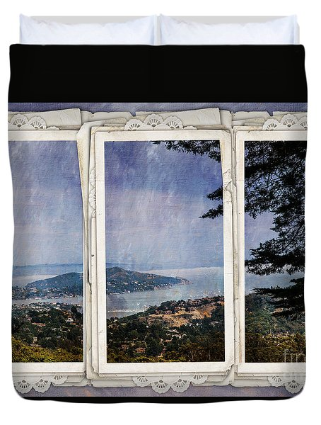 Bay Area Duvet Cover by Judy Wolinsky