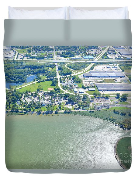 Duvet Cover featuring the photograph Bay Beach Amusement by Bill Lang