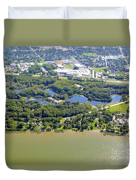 Duvet Cover featuring the photograph Bay Beach Nature Center by Bill Lang