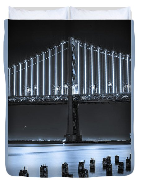 Bay Bridge 2 In Blue Duvet Cover