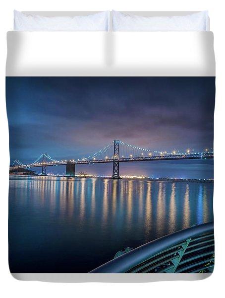 Bay Bridge Blues Duvet Cover