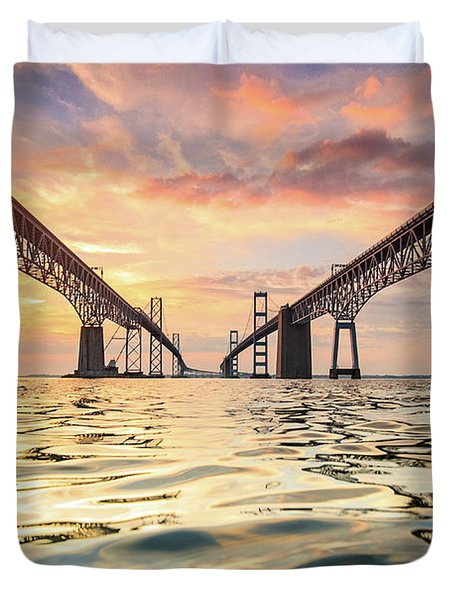 Bay Bridge Impression Duvet Cover