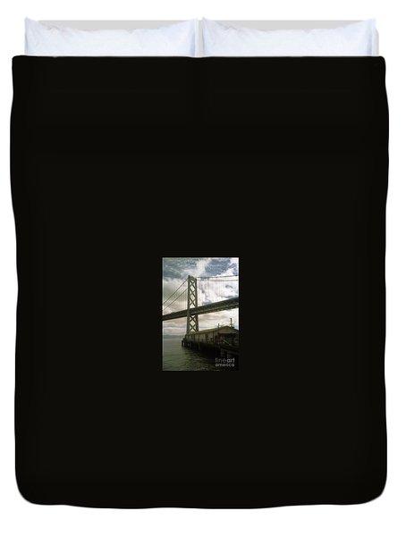 Bay Bridge San Francisco Waterfront Duvet Cover