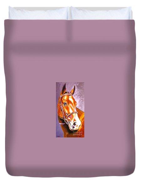 Oldenburg Sport Horse Champion Duvet Cover