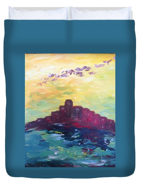 Bay City Skyscape Duvet Cover by Roxy Rich
