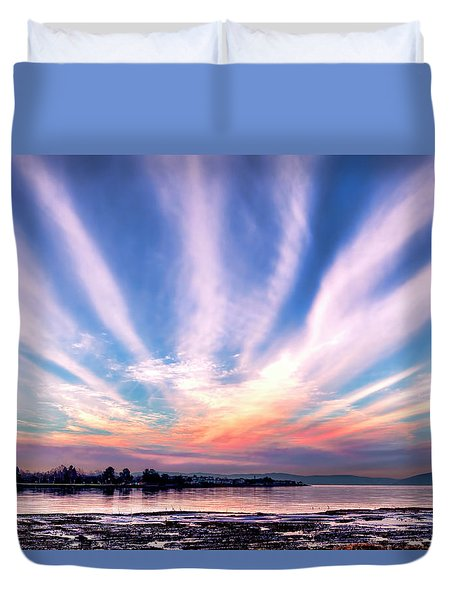 Bay Farm Island Sunrise Duvet Cover