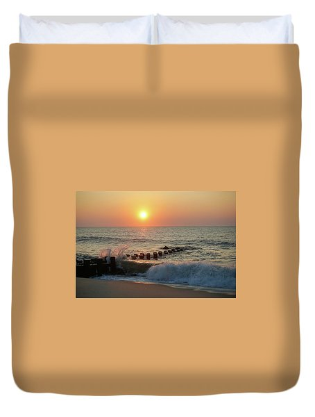 Bay Head Beach Sunrise 1 Duvet Cover