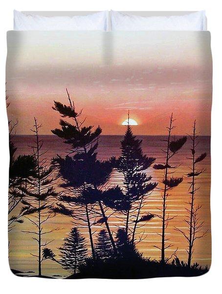 Bay Of Fundy Sunset Duvet Cover