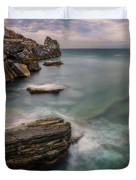 Bay Of The Gulf Of Poets Duvet Cover