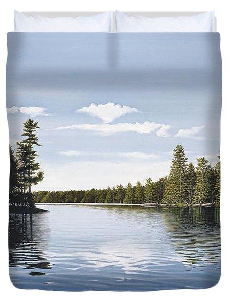 Bay On Lake Muskoka Duvet Cover by Kenneth M  Kirsch