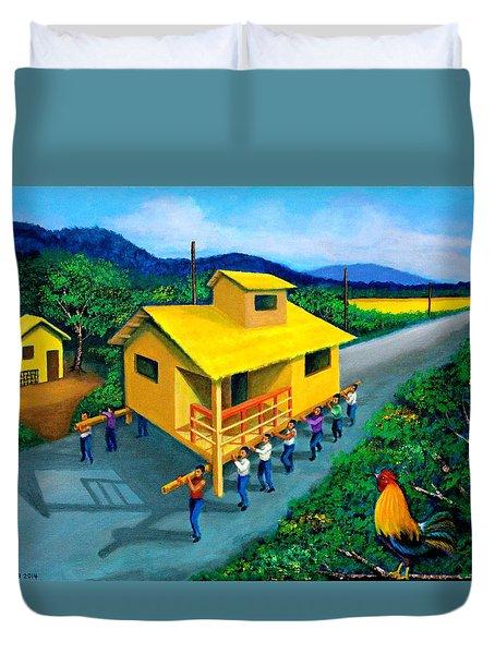Bayanihan Duvet Cover by Cyril Maza