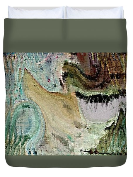 Baying At The Moon Duvet Cover