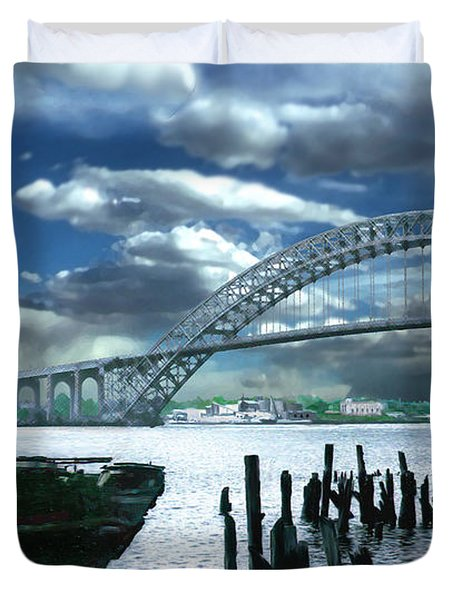 Bayonne Bridge Duvet Cover