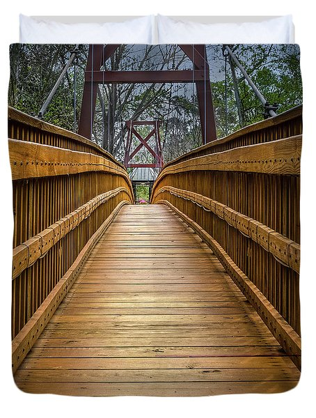 Bayou Foot Bridge Duvet Cover