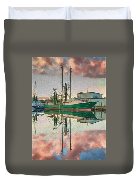 Bayou Labatre' Sunset Reflections Duvet Cover