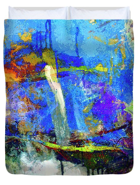 Duvet Cover featuring the painting Bayou Teche by Dominic Piperata