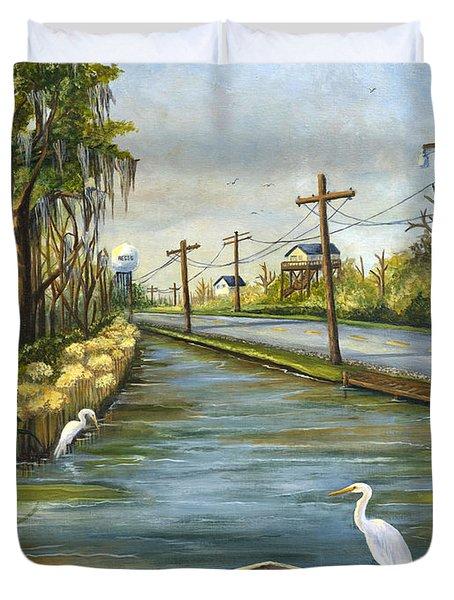 Bayou Terre Aux Boeufs Duvet Cover by Elaine Hodges