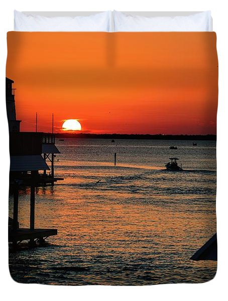 Bayou Vista Sunset Duvet Cover