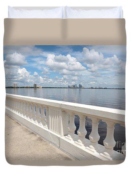 Bayshore Boulevard Balustrade Duvet Cover