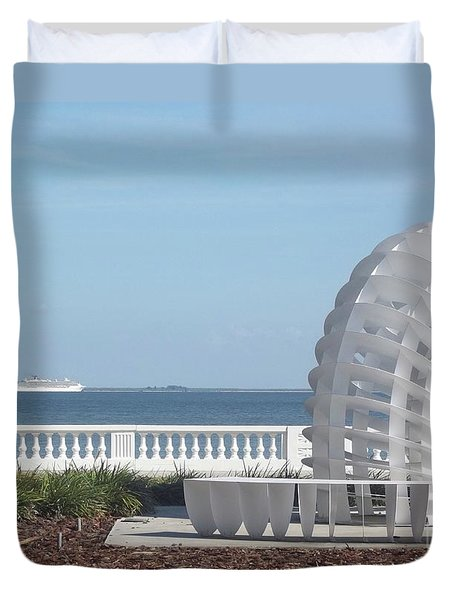 Bayshore Boulevard Sculpture Duvet Cover