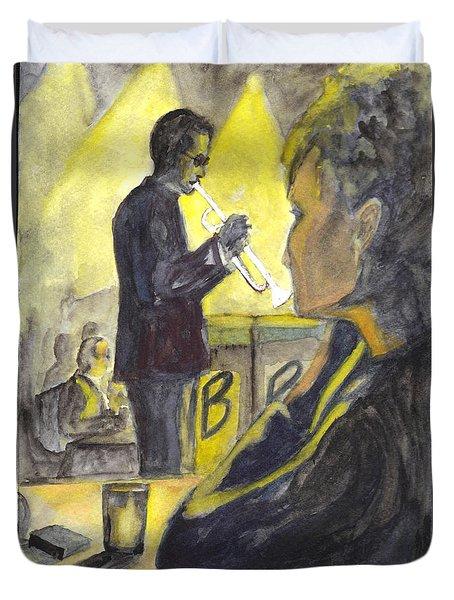 Bb Jazz Duvet Cover by Carol Wisniewski