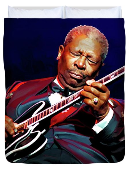 Bb King Duvet Cover by Paul Tagliamonte