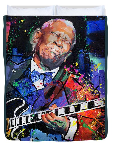 Bb King Portrait Duvet Cover