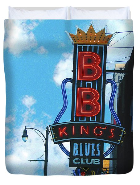 Bb Kings Duvet Cover by Lizi Beard-Ward